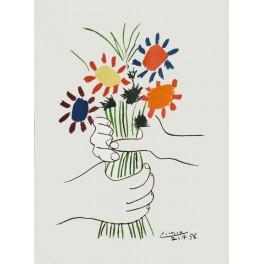 Picasso - Mano con ramo de flores