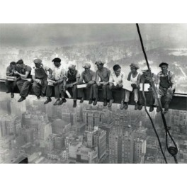 Nueva York - Obreros sentados en la viga - Almuerzo en altura sobre rascacielos