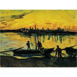 Van Gogh - Arles, el puerto, la tarde