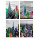 CUADRO 40X30X2 NEW YORK COLOR 4MOD.