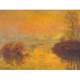Monet - Puesta de sol