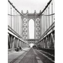 Nueva York - Torre del Puente de Manhattan y carretera
