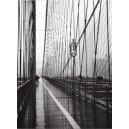 Nueva York - Puente de Brooklyn en dia lluvioso