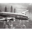 Nueva York - Aeronave volando sobre ciudad