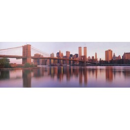 Nueva York - Puente de Brooklyn y Manhattan al amanecer