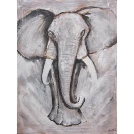 Lienzo pintado a mano - elefante