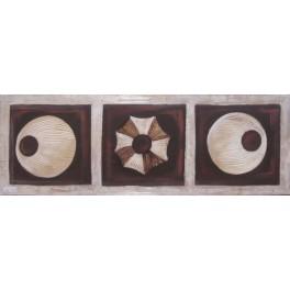 Lienzo pintado a mano - circulos conchas