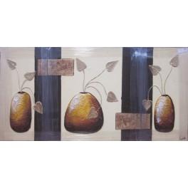 Lienzo pintado a mano - jarrones