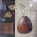 Lienzo pintado a mano - jarrón