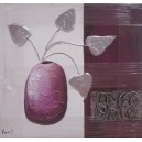 Lienzo pintado a mano - jarron
