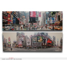 CUADRO 140X45X4 NEW YORK COLOR 2MOD.